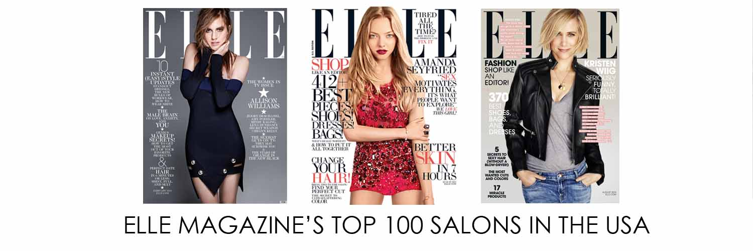ELLE MAGAZINE Top 100 Hair Salons in the USA, Maine's only rated salon